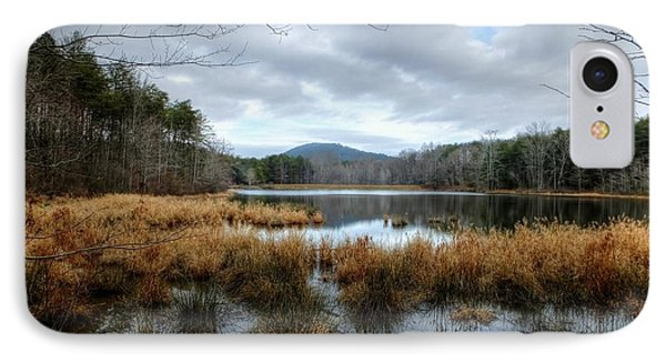 Lake Crowders Mountain IPhone Case by Maurice Smith