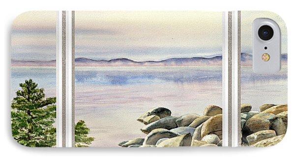 Lake House Window View IPhone Case by Irina Sztukowski