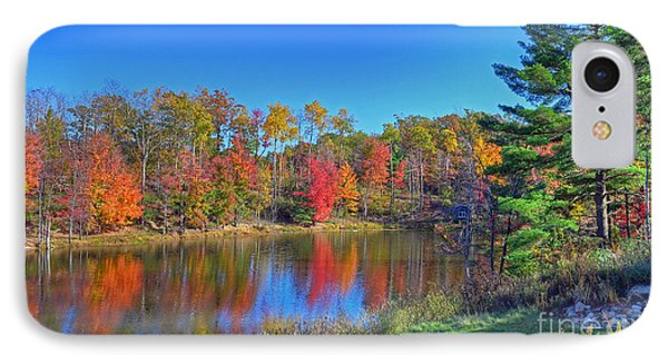 IPhone Case featuring the photograph Lake In The Woods by Rodney Campbell
