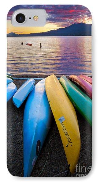 Lake Quinault Kayaks Phone Case by Inge Johnsson
