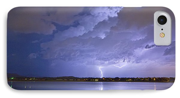 Lake View Lightning Thunderstorm Phone Case by James BO  Insogna