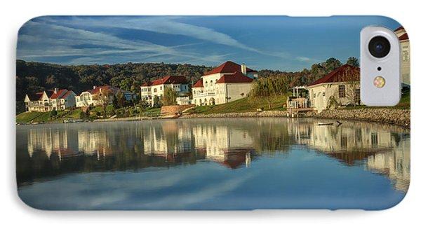 Lake White Morning IPhone Case by Jaki Miller