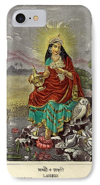 Lakshmi The Goddess Of Fortune IPhone Case by British Library