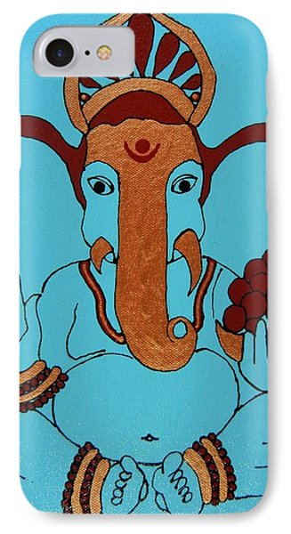 19 Lambakarna-large Eared Ganesha IPhone Case by Kruti Shah