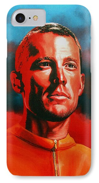 Lance Armstrong IPhone Case by Paul Meijering