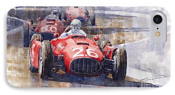 Lancia D50 Monaco Gp 1955 Phone Case by Yuriy  Shevchuk