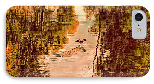 Landing Duck Absrtact Phone Case by Leif Sohlman