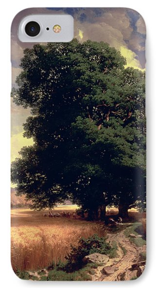 Landscape With Oaks Phone Case by Alexandre Calame