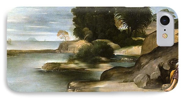 Landscape With St John The Evangelist IPhone Case by Juan Bautista Maino