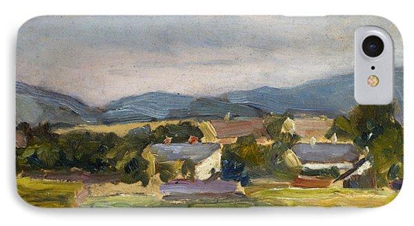 Landschaft In North Austria IPhone Case by Egon Schiele