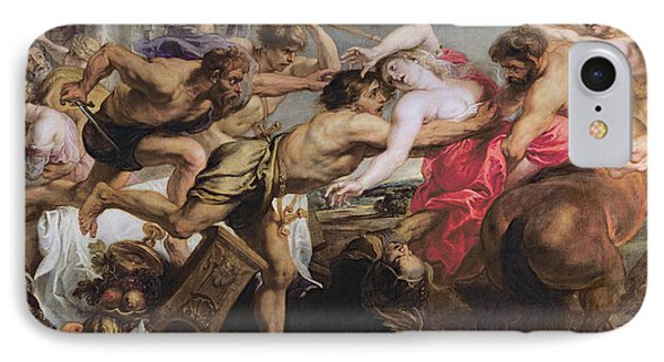 Lapiths And Centaurs Oil On Canvas IPhone Case by Peter Paul Rubens