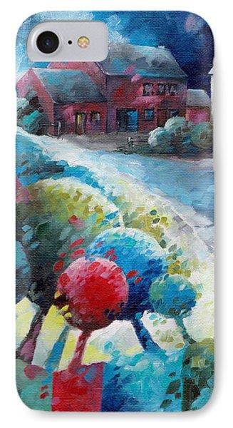 L'arbre Rouge IPhone Case by Beatrice BEDEUR
