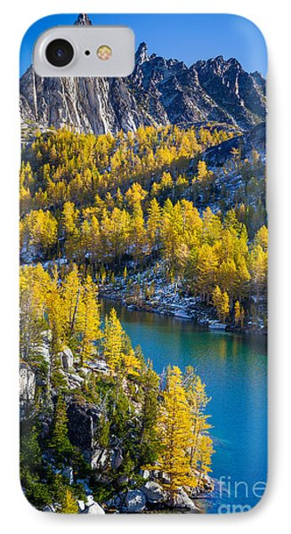 Larches At Perfection Lake Phone Case by Inge Johnsson
