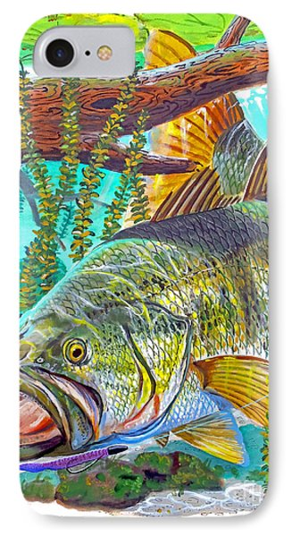 Largemouth Bass IPhone Case by Carey Chen