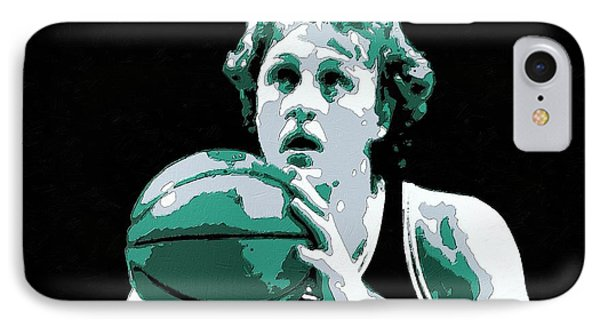 Larry Bird Poster Art IPhone Case by Florian Rodarte