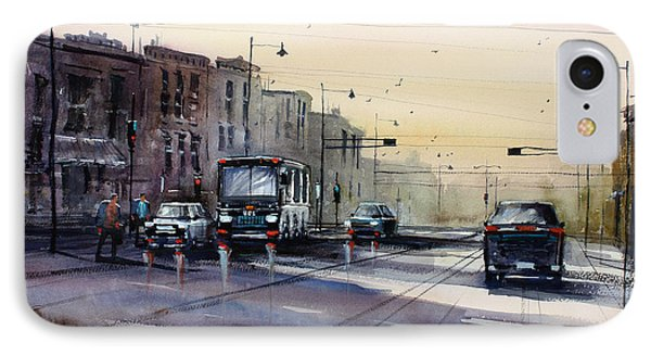 Last Light - College Ave. IPhone Case by Ryan Radke