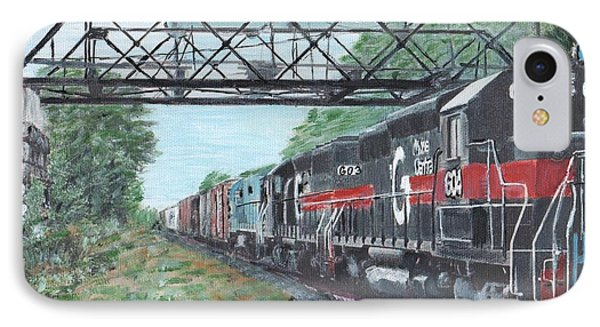 Last Train Under The Bridge IPhone Case by Cliff Wilson