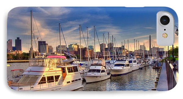 Late Afternoon At Constitution Marina - Charlestown Phone Case by Joann Vitali