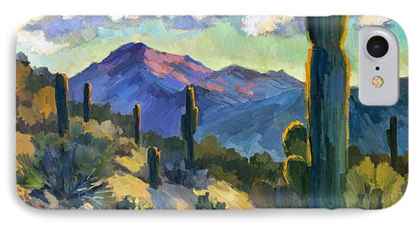 Late Afternoon Tucson IPhone Case by Diane McClary