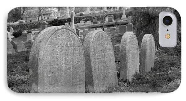 Laurel Hill Headstones Phone Case by Jennifer Ancker