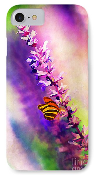 Lavender And Butterlies Phone Case by Darren Fisher