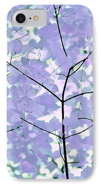 Lavender Blues Leaves Melody Phone Case by Jennie Marie Schell