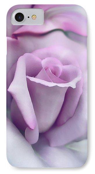 Lavender Rose Flower Portrait IPhone Case by Jennie Marie Schell