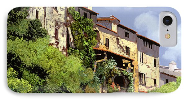 Le Case Sulla Rupe IPhone Case by Guido Borelli