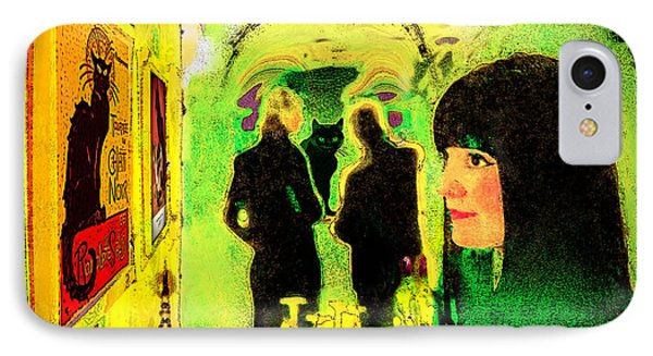 Le Chat Noir Phone Case by Chuck Staley