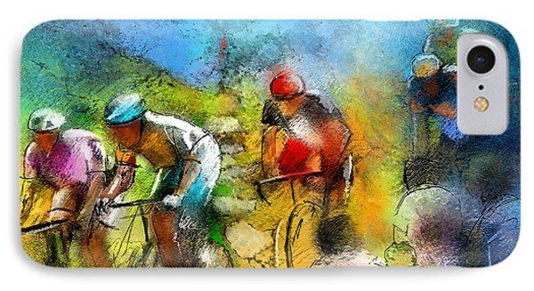 Le Tour De France 01 Phone Case by Miki De Goodaboom