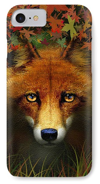 Leaf Fox Phone Case by Robert Foster