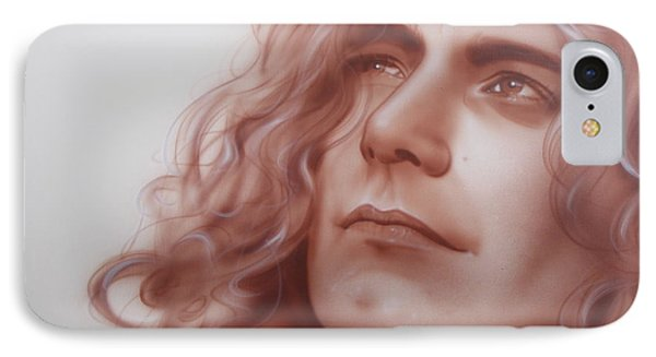 Robert Plant - ' Leaves Are Falling All Around ' IPhone Case by Christian Chapman Art