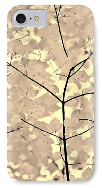 Leaves Fade To Beige Melody Phone Case by Jennie Marie Schell
