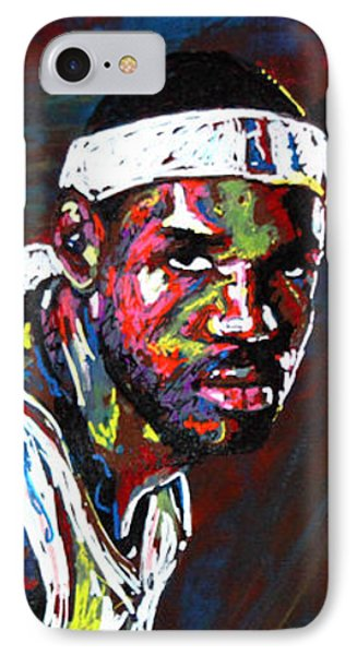 Lebron James 2 IPhone Case by Maria Arango