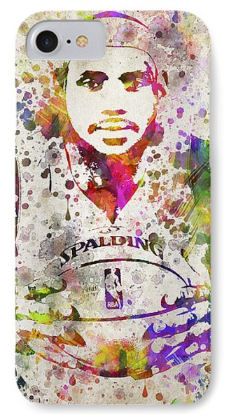 Lebron James In Color IPhone Case by Aged Pixel