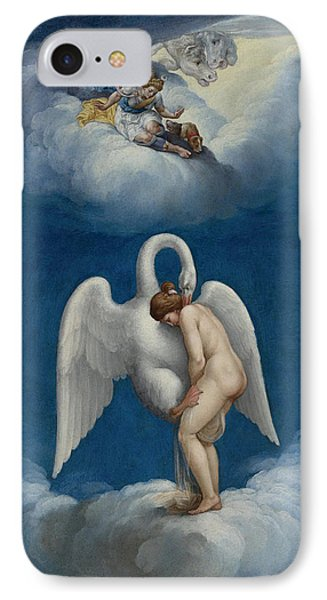Leda And The Swan IPhone Case by Lelio Orsi