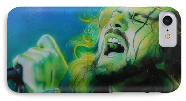 Eddie Vedder - ' Lemon Yellow Sun ' IPhone Case by Christian Chapman Art