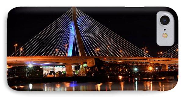 Lenny Zakim Bridge Boston Ma IPhone Case by Toby McGuire