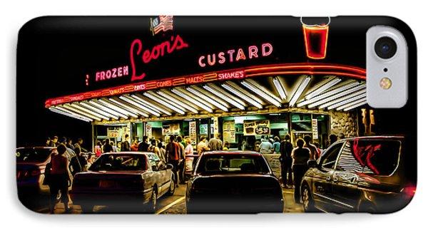 Leon's Frozen Custard IPhone Case by Scott Norris