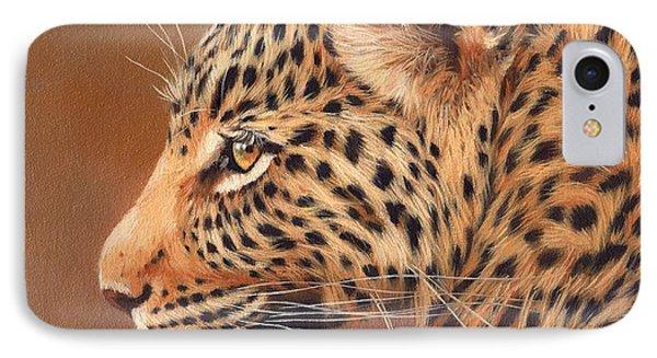 Leopard Portrait IPhone 7 Case by David Stribbling