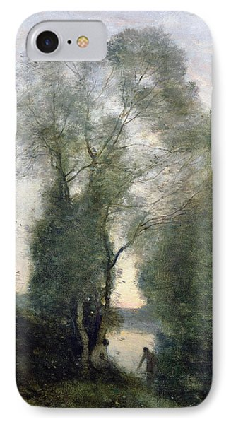 Les Baigneuses IPhone Case by Jean Baptiste Camille Corot
