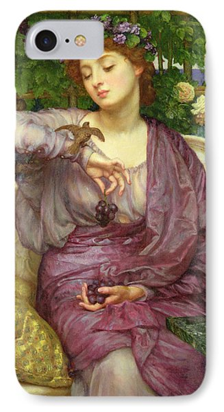 Lesbia And Her Sparrow IPhone Case by Sir Edward John Poynter