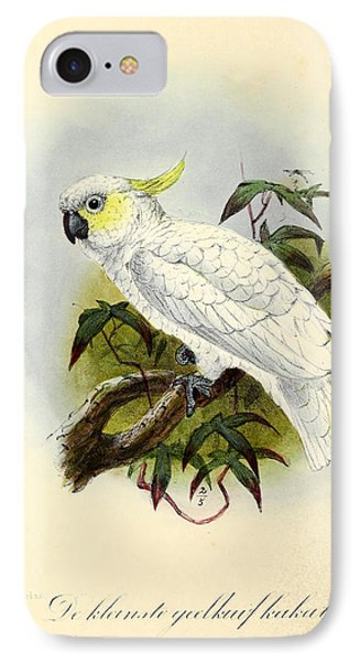 Lesser Cockatoo IPhone 7 Case by J G Keulemans