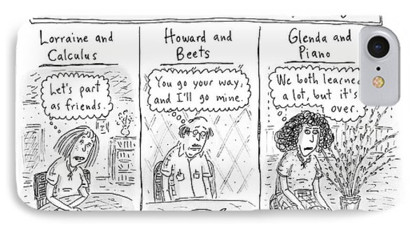 Lesser-known 'conscious Uncouplings Three Panels IPhone Case by Roz Chast