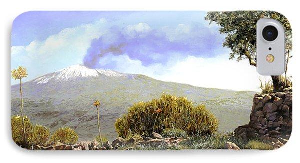 l'Etna  Phone Case by Guido Borelli