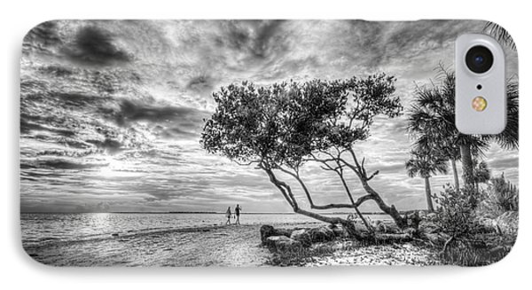 Let's Stay Here Forever Bw IPhone Case by Marvin Spates