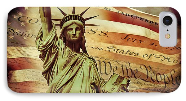 Declaration Of Independence IPhone Case by Az Jackson