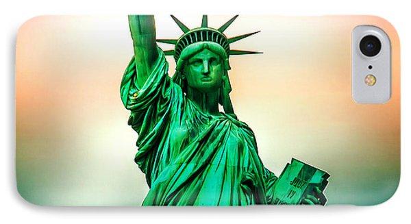 Liberty And Beyond IPhone Case by Az Jackson
