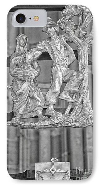 Libra Zodiac Sign - St Vitus Cathedral - Prague - Black And Whit IPhone Case by Ian Monk