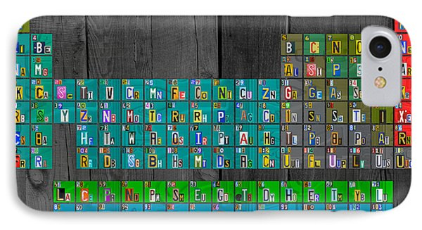 License Plate Art Recycled Periodic Table Of The Elements By Design Turnpike IPhone Case by Design Turnpike